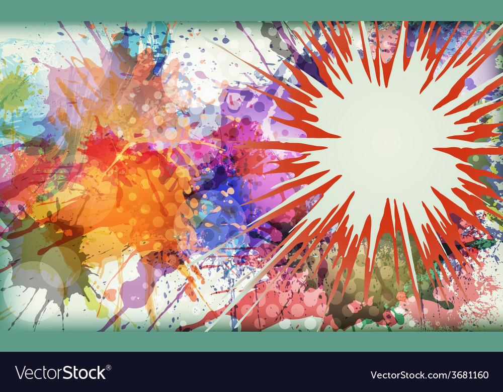 Watercolor explosion - abstract background vector | Price: 1 Credit (USD $1)