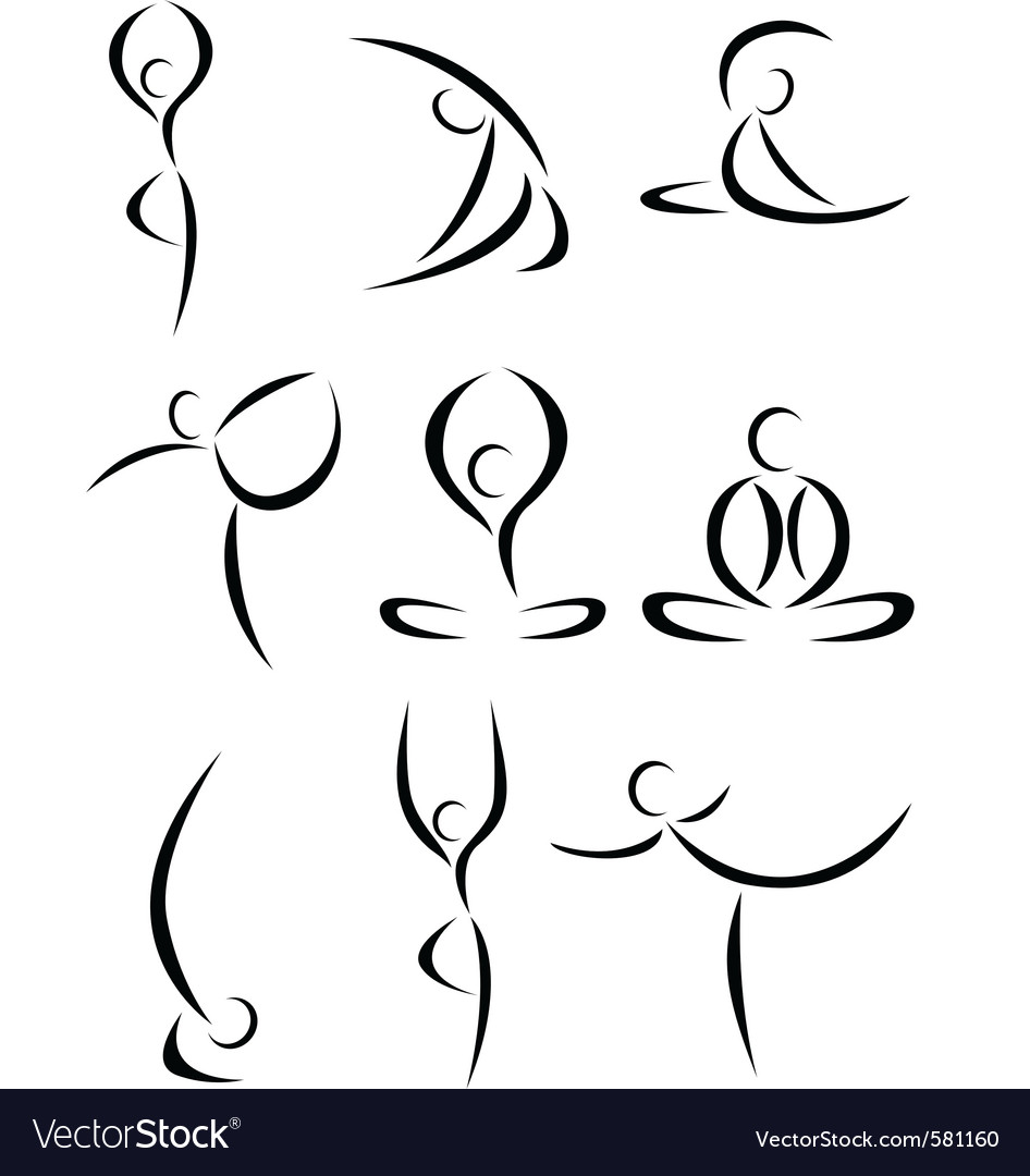 Yoga symbol vector | Price: 1 Credit (USD $1)