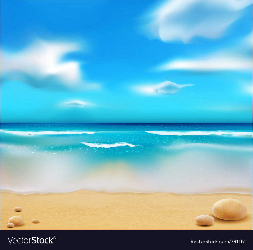 Beach and pebbles vector | Price: 3 Credit (USD $3)