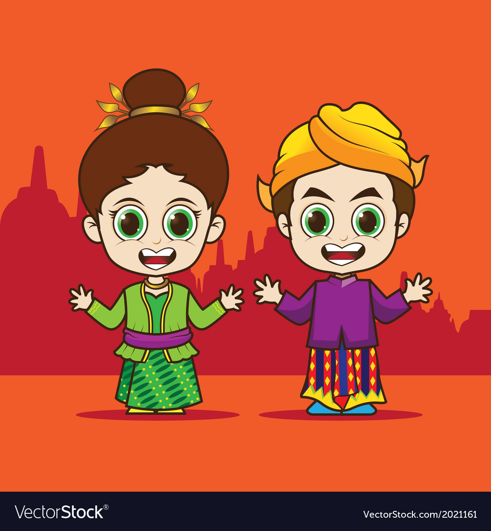 Cartoon asean indonesia vector | Price: 1 Credit (USD $1)