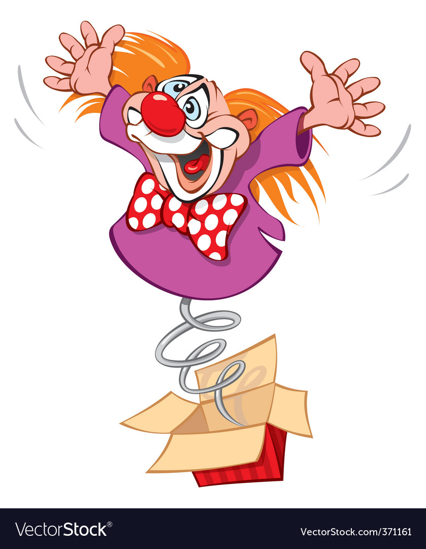 Crazy clown vector | Price: 3 Credit (USD $3)