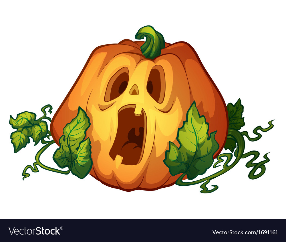 Frightened pumpkin vector | Price: 1 Credit (USD $1)