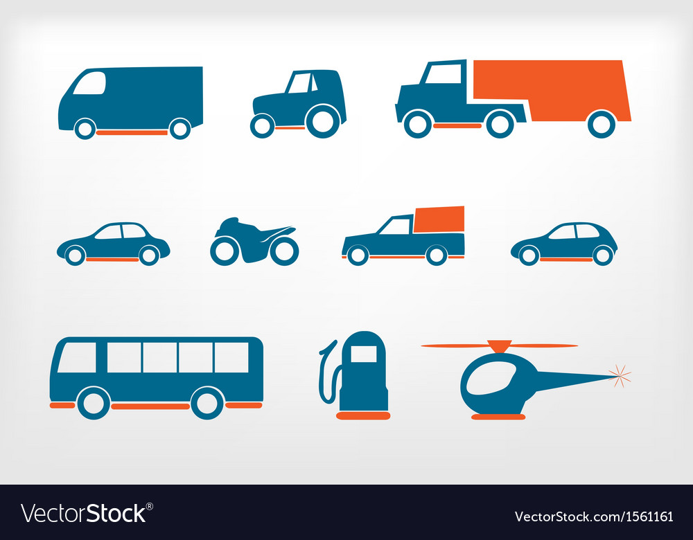 Icons set vehicles vector | Price: 1 Credit (USD $1)
