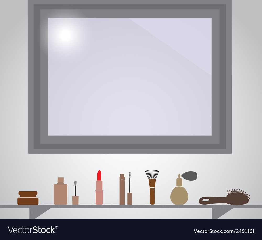 Lady stuff beauty needs in bathroom eps10 vector | Price: 1 Credit (USD $1)