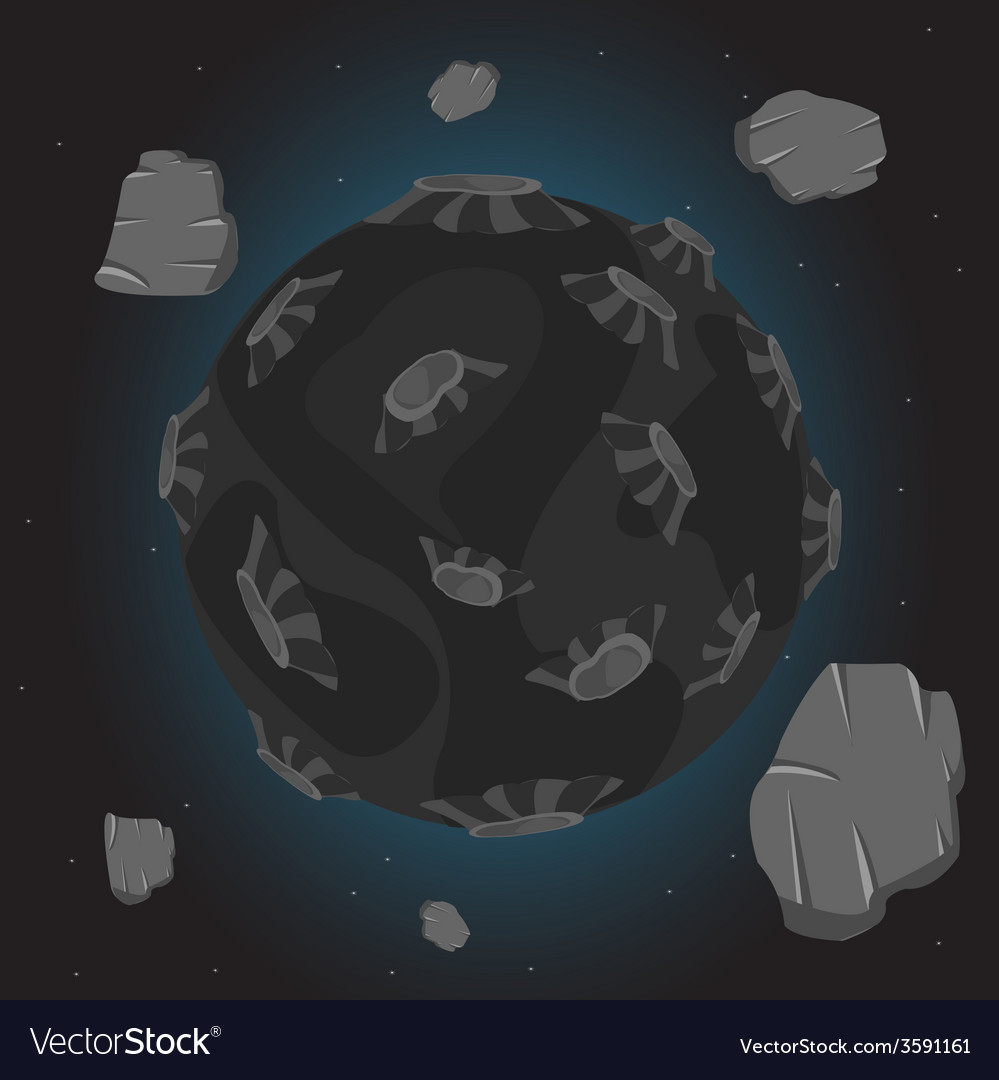 Planet in cosmos vector | Price: 1 Credit (USD $1)