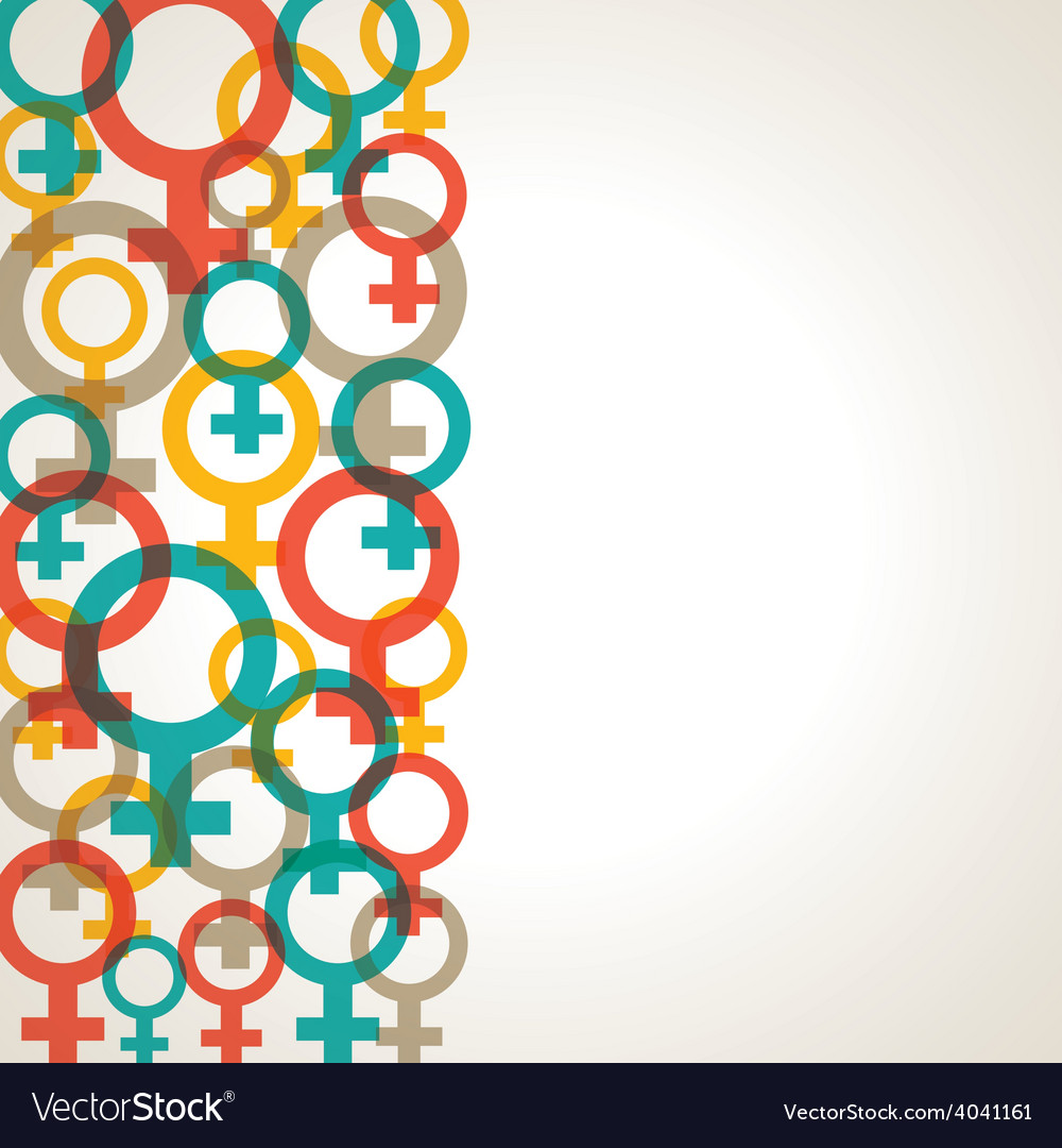 Retro female symbol background stock vector | Price: 1 Credit (USD $1)