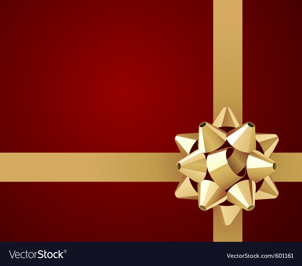 Ribbon and bow background vector | Price: 1 Credit (USD $1)