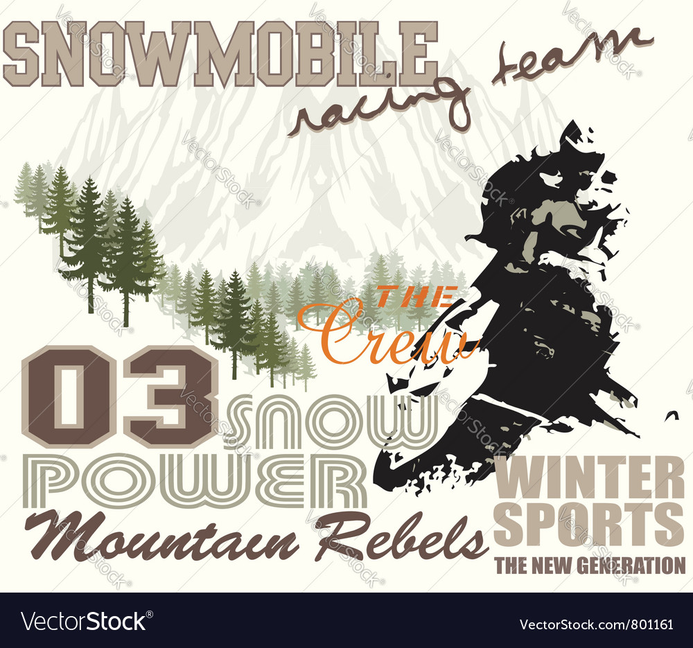 Snow mobile 2 vector | Price: 1 Credit (USD $1)
