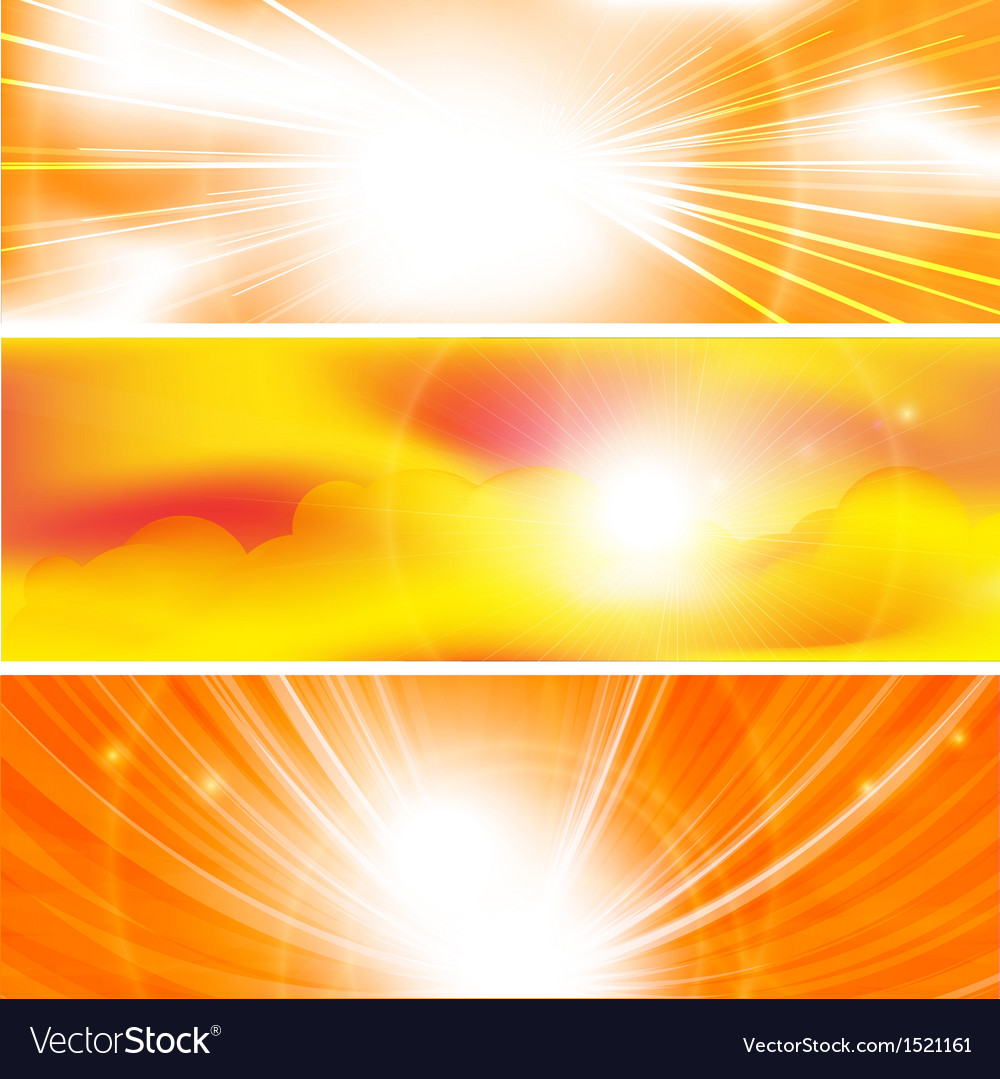 Sun ray banners vector | Price: 1 Credit (USD $1)