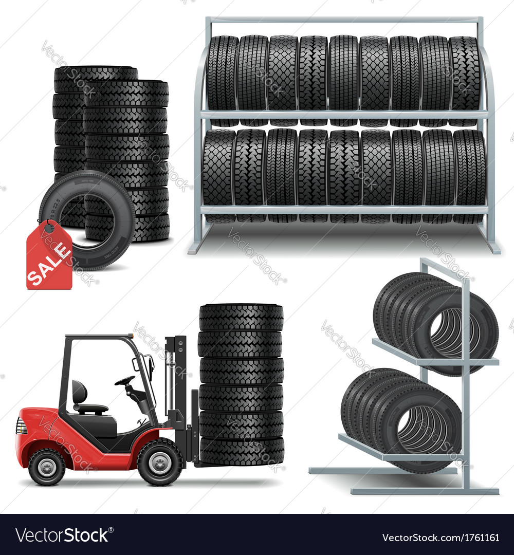 Tire shop icons vector | Price: 3 Credit (USD $3)