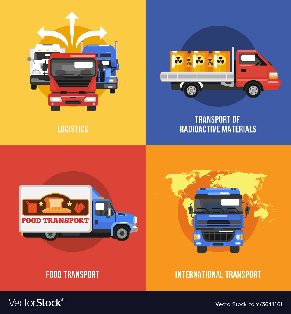 Truck icons flat vector | Price: 1 Credit (USD $1)