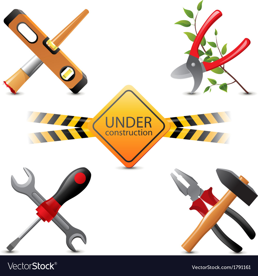 Under construction icons vector | Price: 1 Credit (USD $1)