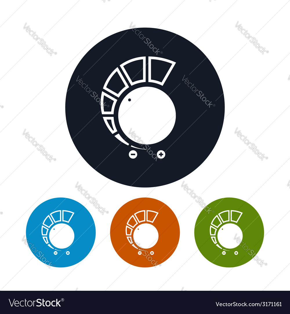 Volume control icon vector | Price: 1 Credit (USD $1)