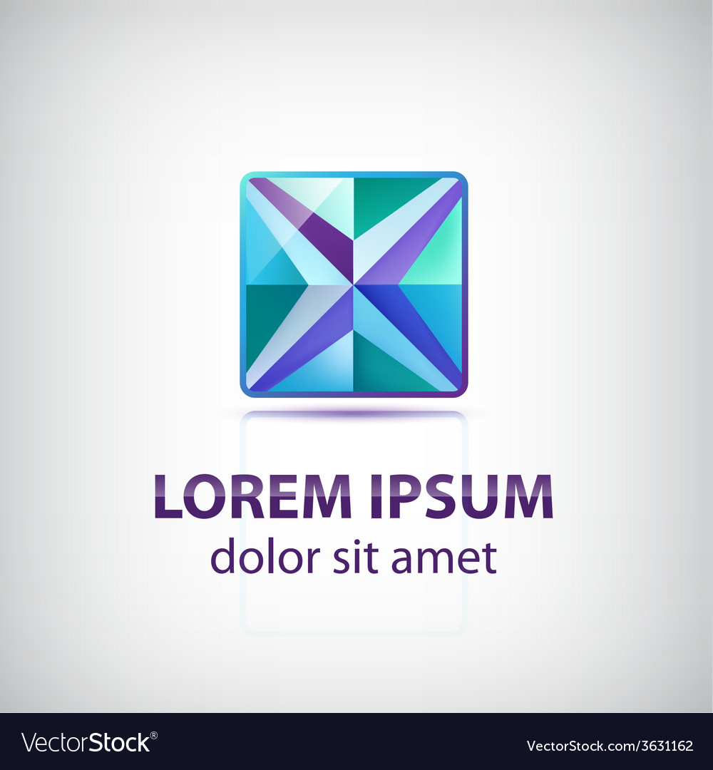 Abstract decorated star square icon logo vector | Price: 1 Credit (USD $1)