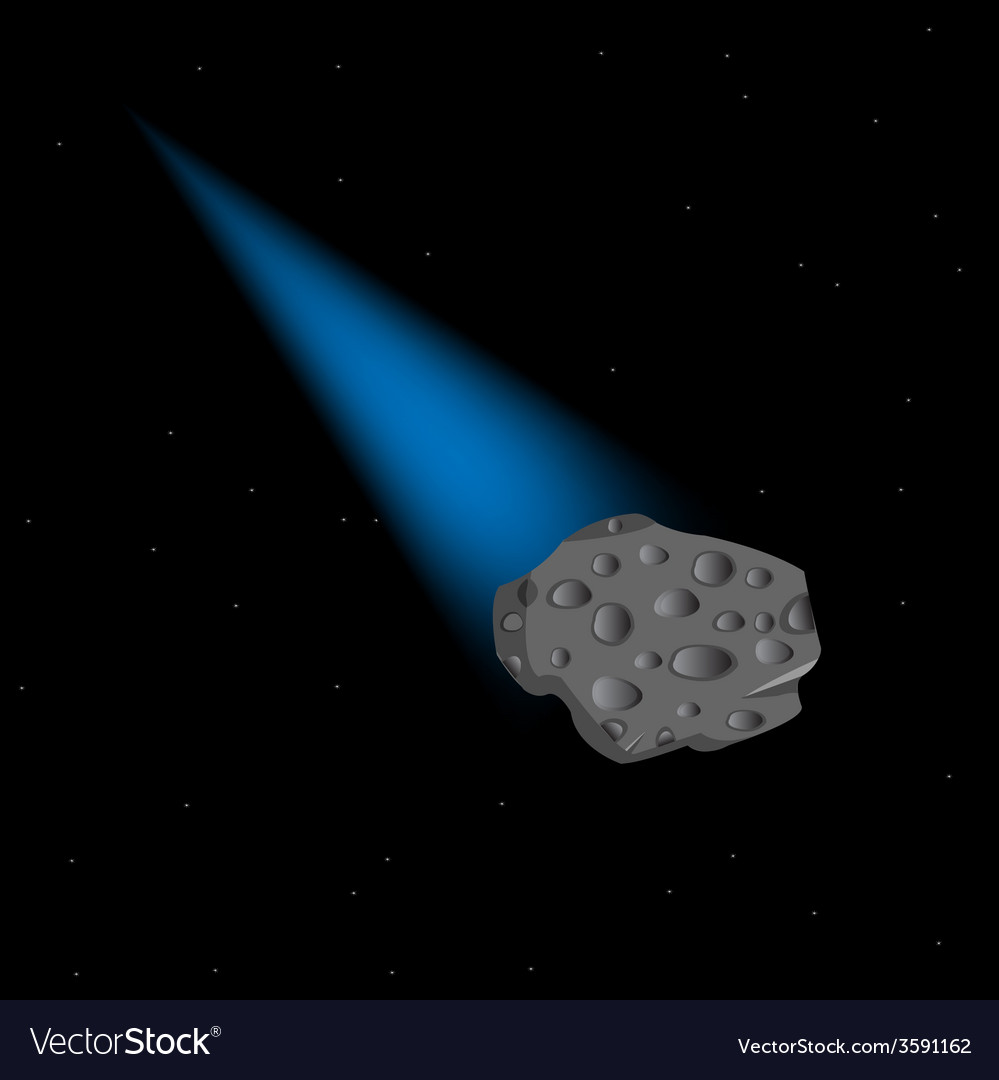 Asteroid in cosmos vector | Price: 1 Credit (USD $1)
