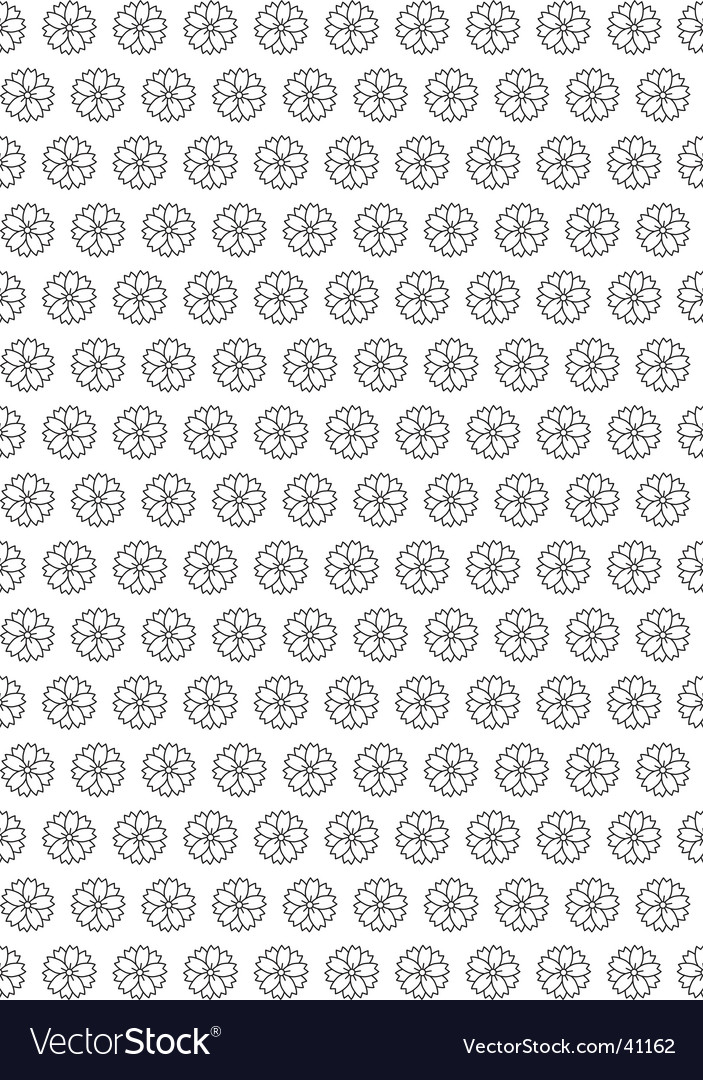 Flower seamless wallpaper vector | Price: 1 Credit (USD $1)