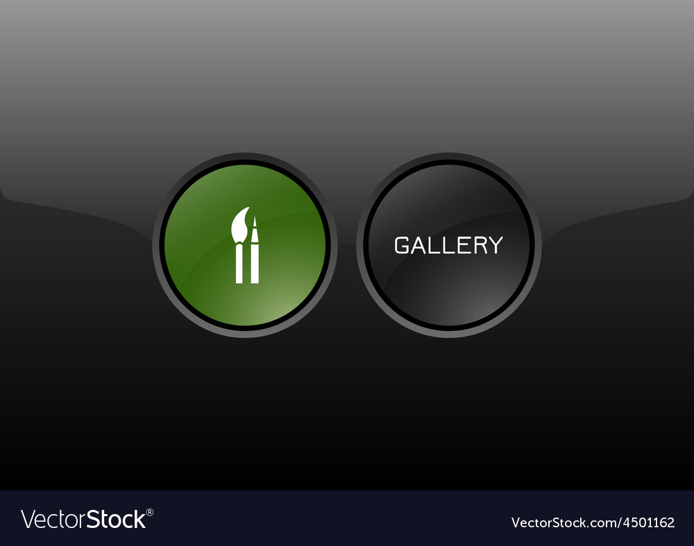 Gallery button vector | Price: 1 Credit (USD $1)