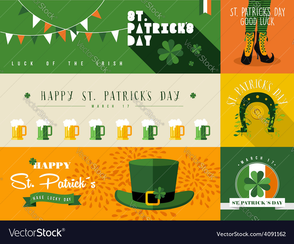 Happy st patricks day banner vector | Price: 1 Credit (USD $1)