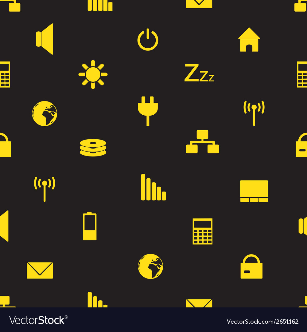 Laptop and pc indication icons pattern eps10 vector | Price: 1 Credit (USD $1)