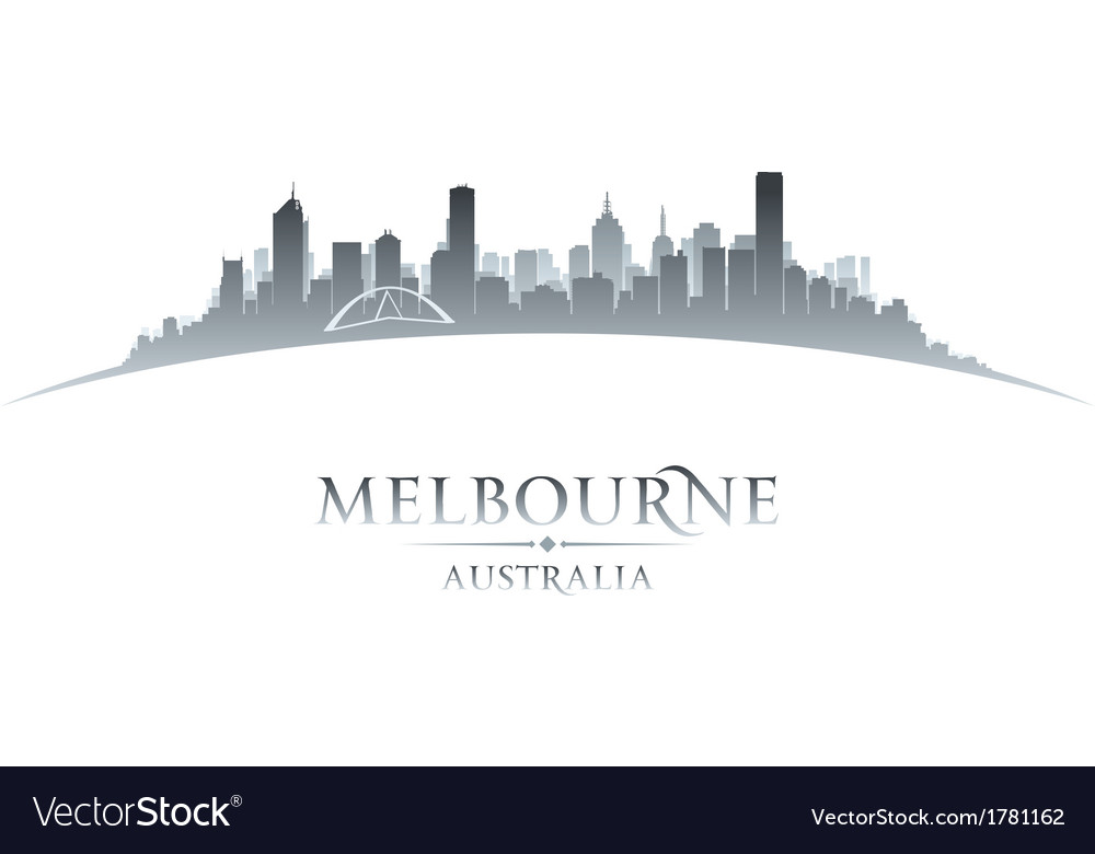 Melbourne australia city skyline silhouette vector | Price: 1 Credit (USD $1)