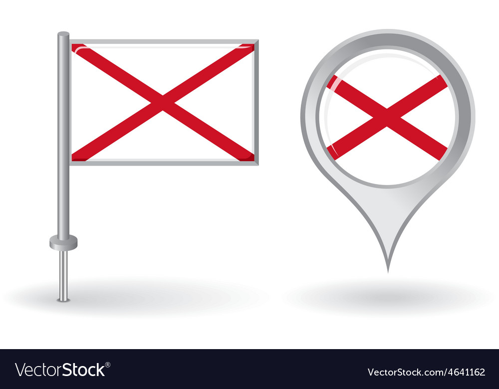 Northern ireland pin icon and map pointer flag vector | Price: 1 Credit (USD $1)