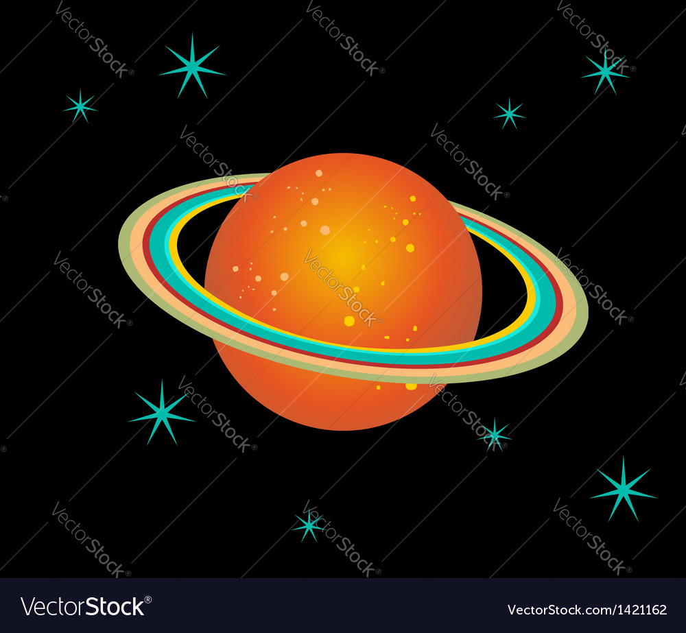 Saturn planet vector | Price: 1 Credit (USD $1)