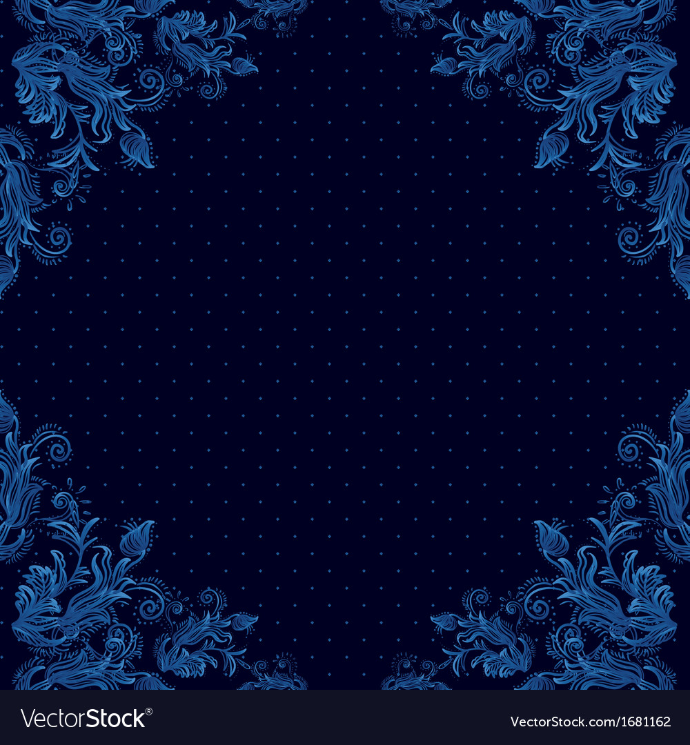 Seamless vintage background baroque pattern vector | Price: 1 Credit (USD $1)