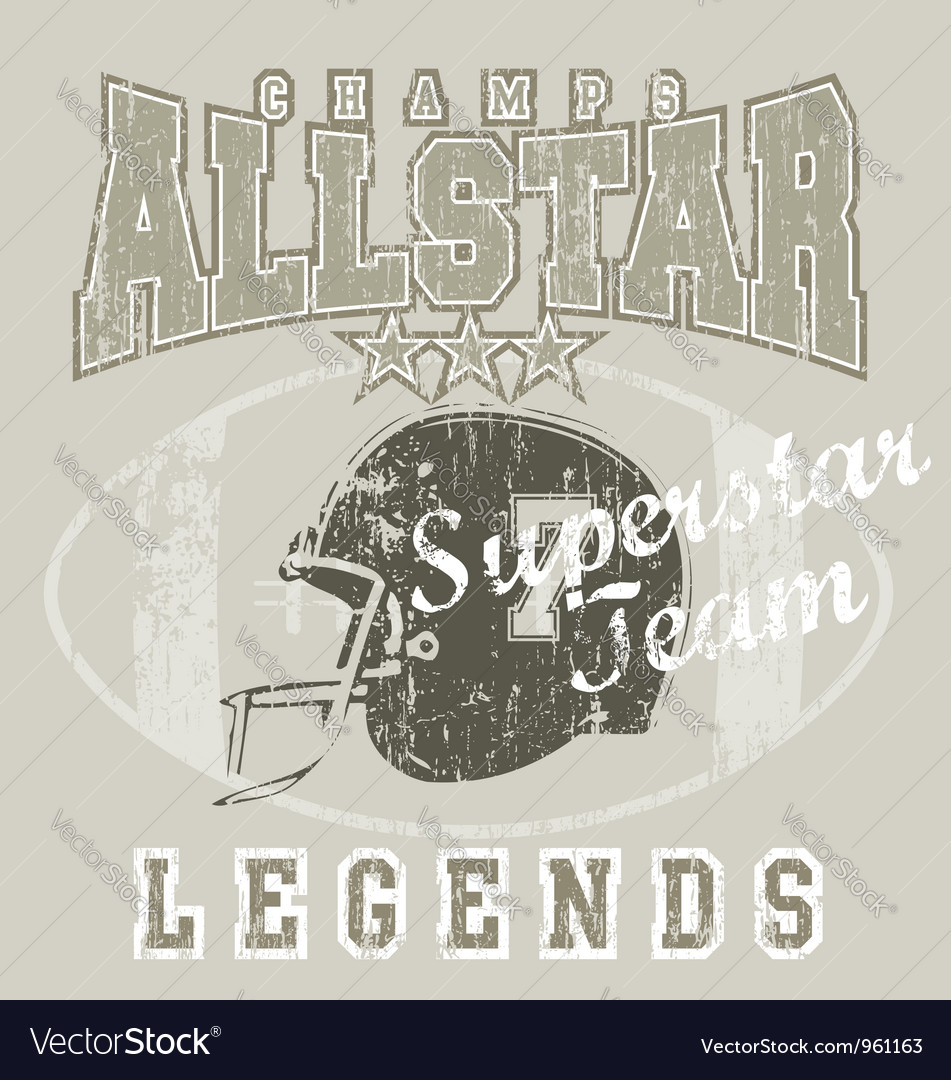 All star football vector | Price: 1 Credit (USD $1)