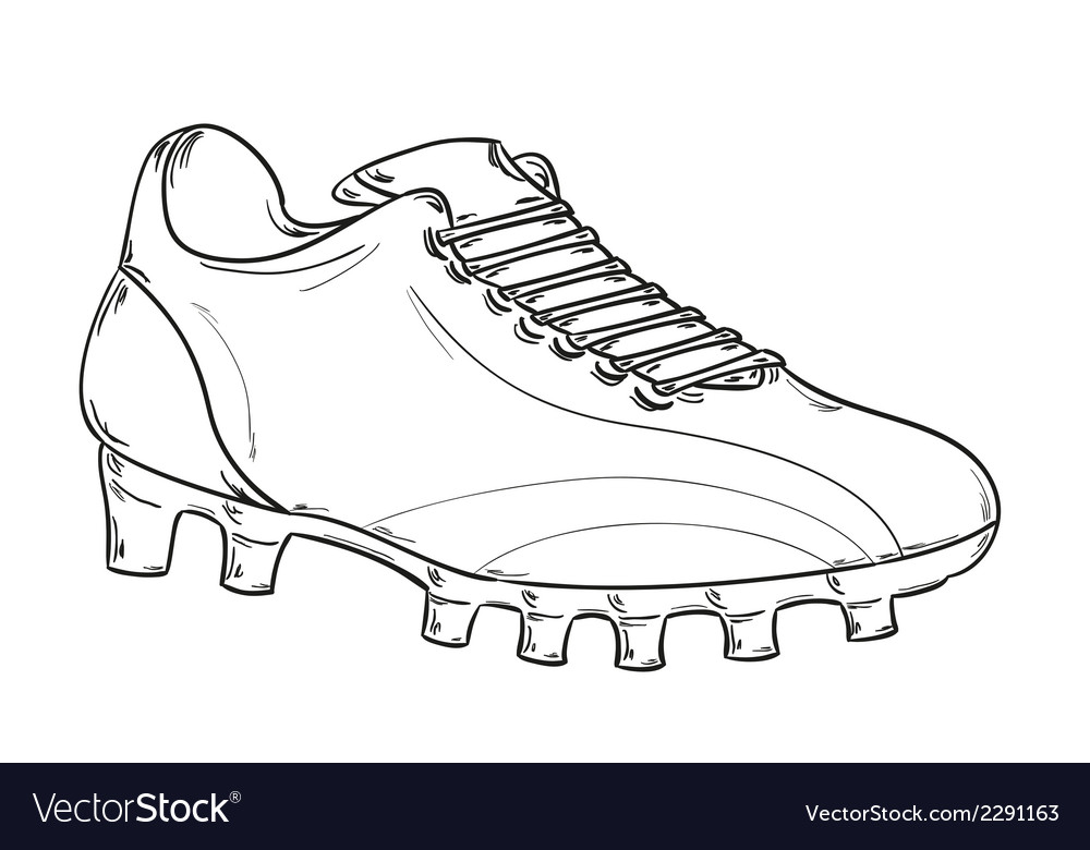Football boots sketch vector | Price: 1 Credit (USD $1)