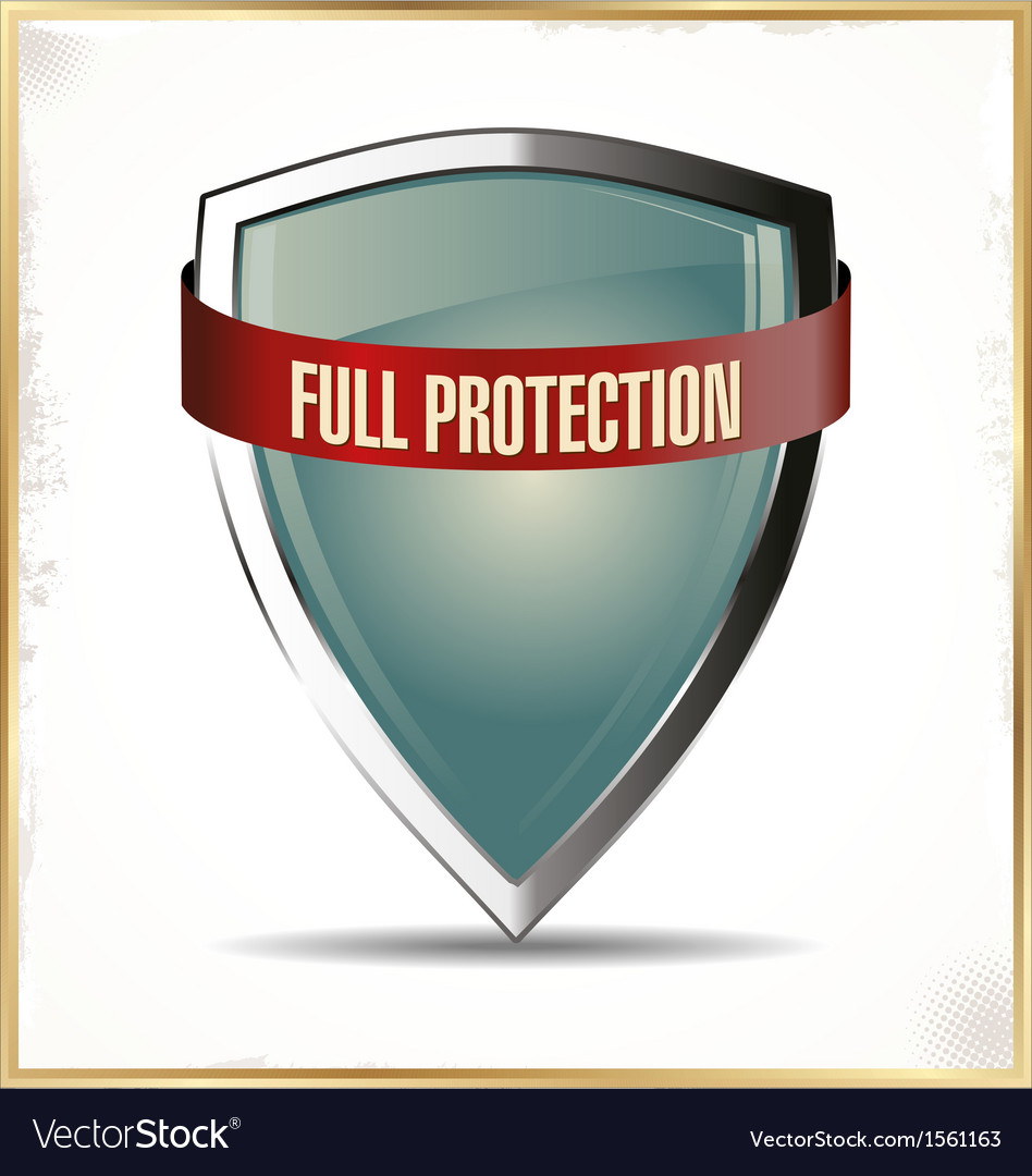 Full protection shield vector | Price: 1 Credit (USD $1)