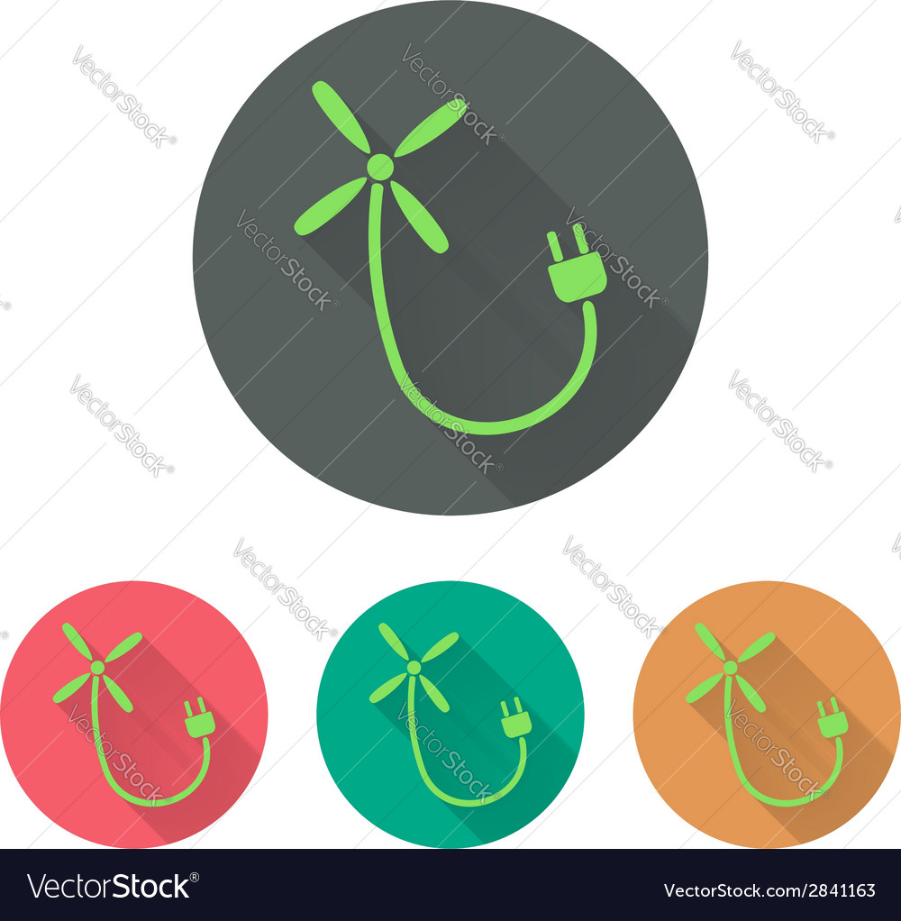 Green energy windmill vector | Price: 1 Credit (USD $1)