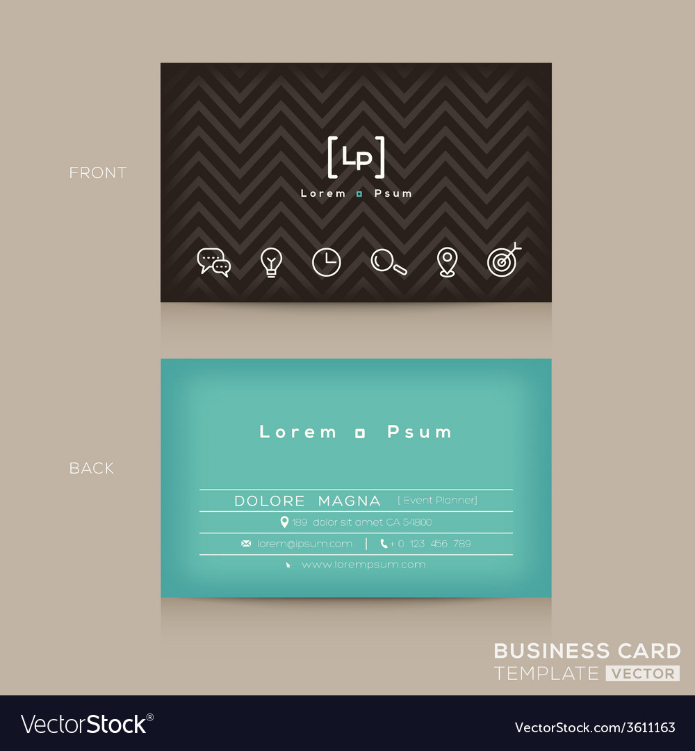 Modern trendy business card design template vector | Price: 1 Credit (USD $1)