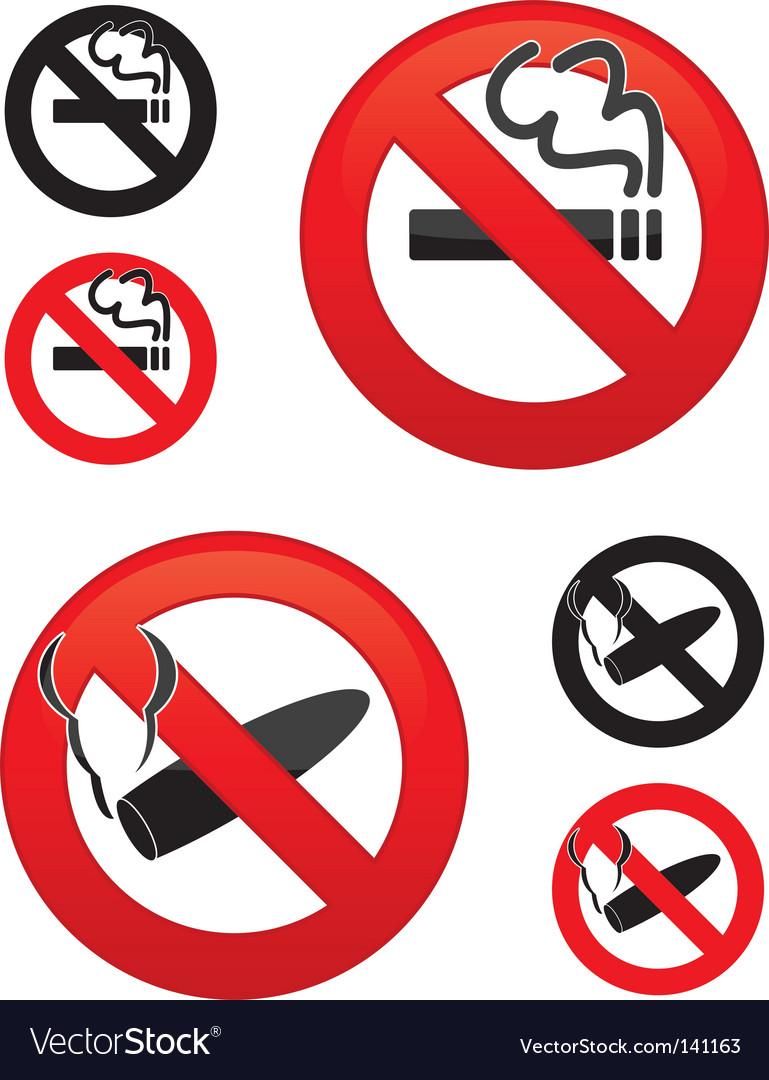 No smoking icons vector | Price: 1 Credit (USD $1)