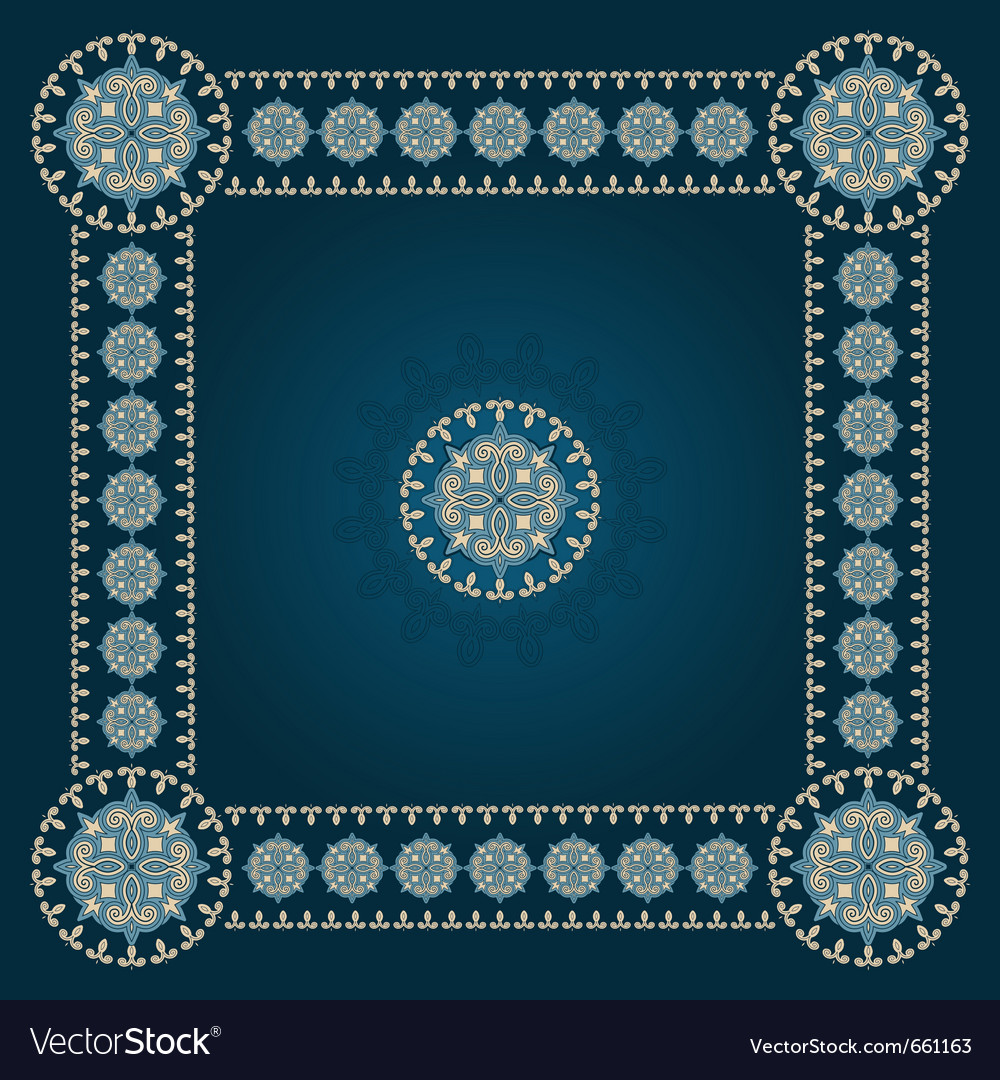 Square eastern pattern vector | Price: 1 Credit (USD $1)