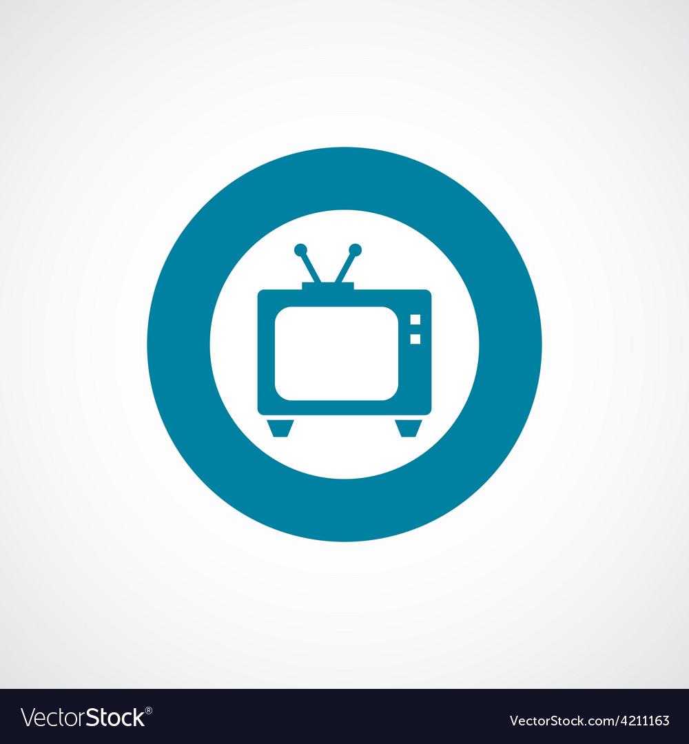 Tv icon bold blue circle border vector | Price: 1 Credit (USD $1)
