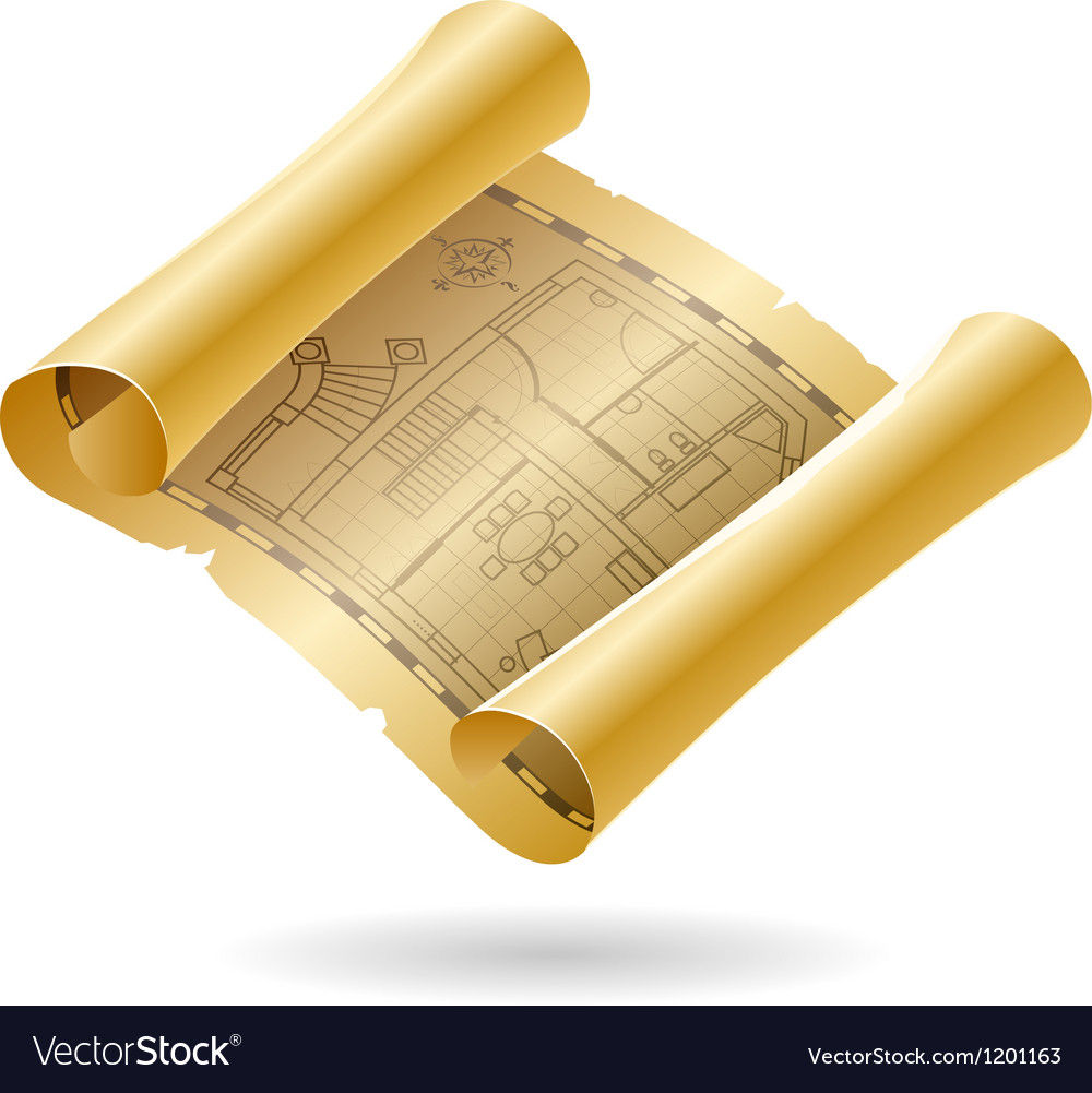Vintage architectural draft vector | Price: 1 Credit (USD $1)