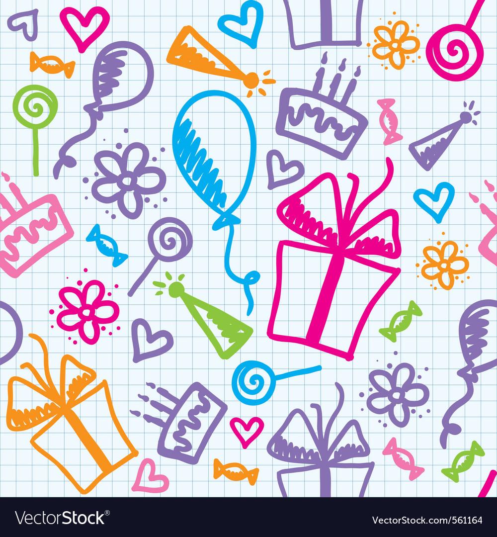 Birthday pattern vector   Price: 1 Credit (USD $1)