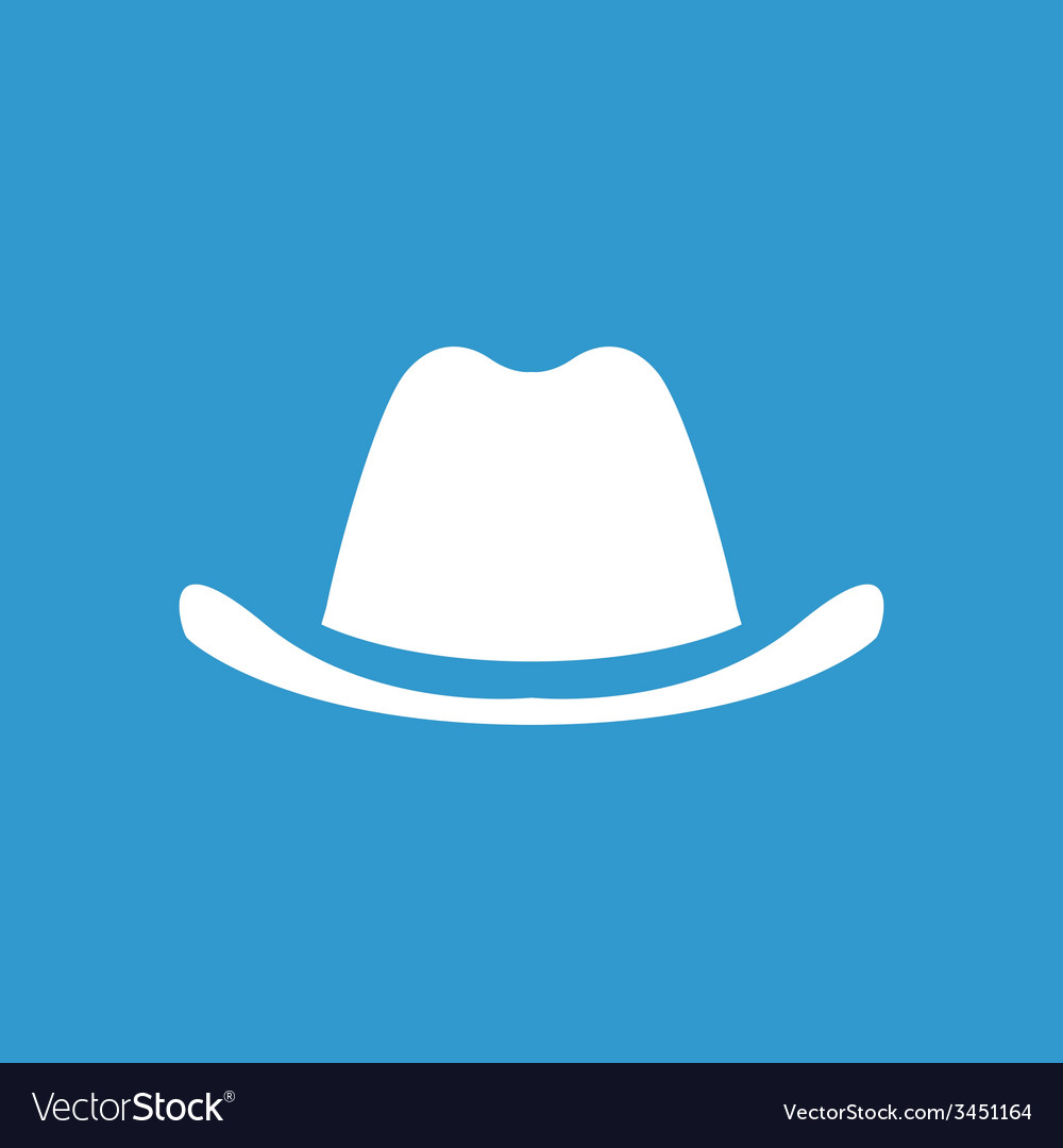 Classic hat icon white on the blue background vector | Price: 1 Credit (USD $1)