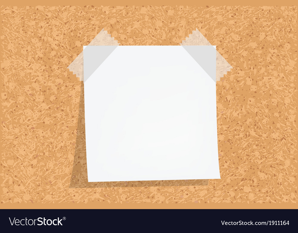 Cork board with notes vector | Price: 1 Credit (USD $1)