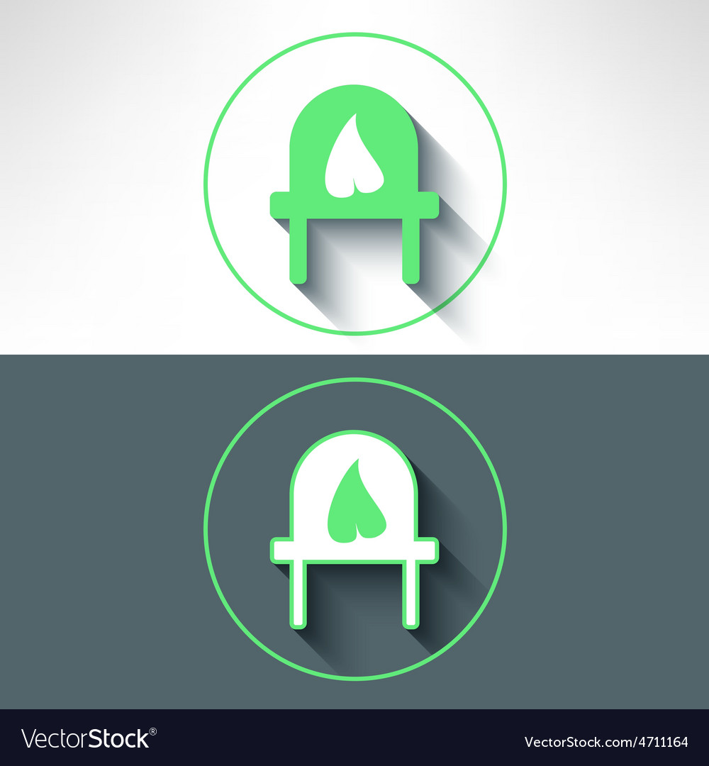 Electrical outlet with leaf on it made in vector   Price: 1 Credit (USD $1)