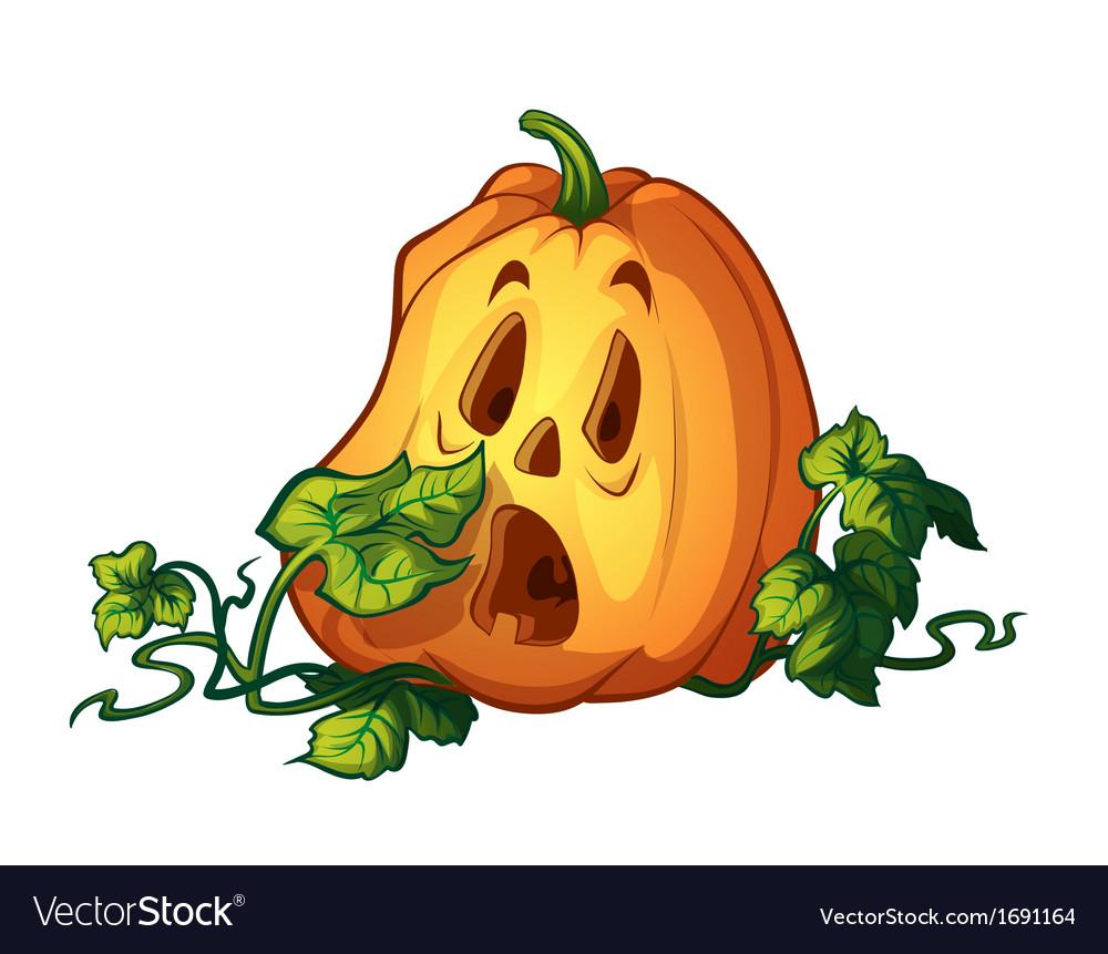 Frightened pumpkin vector   Price: 1 Credit (USD $1)