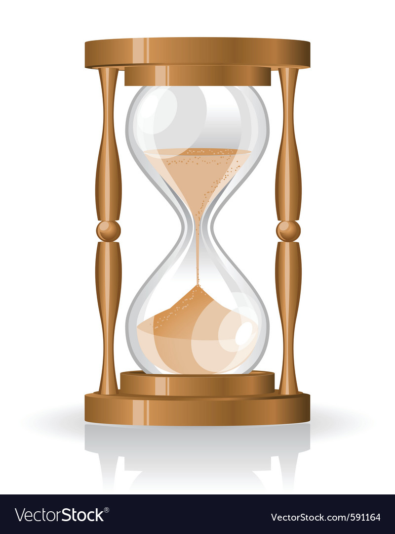 Glass sand clock vector | Price: 3 Credit (USD $3)