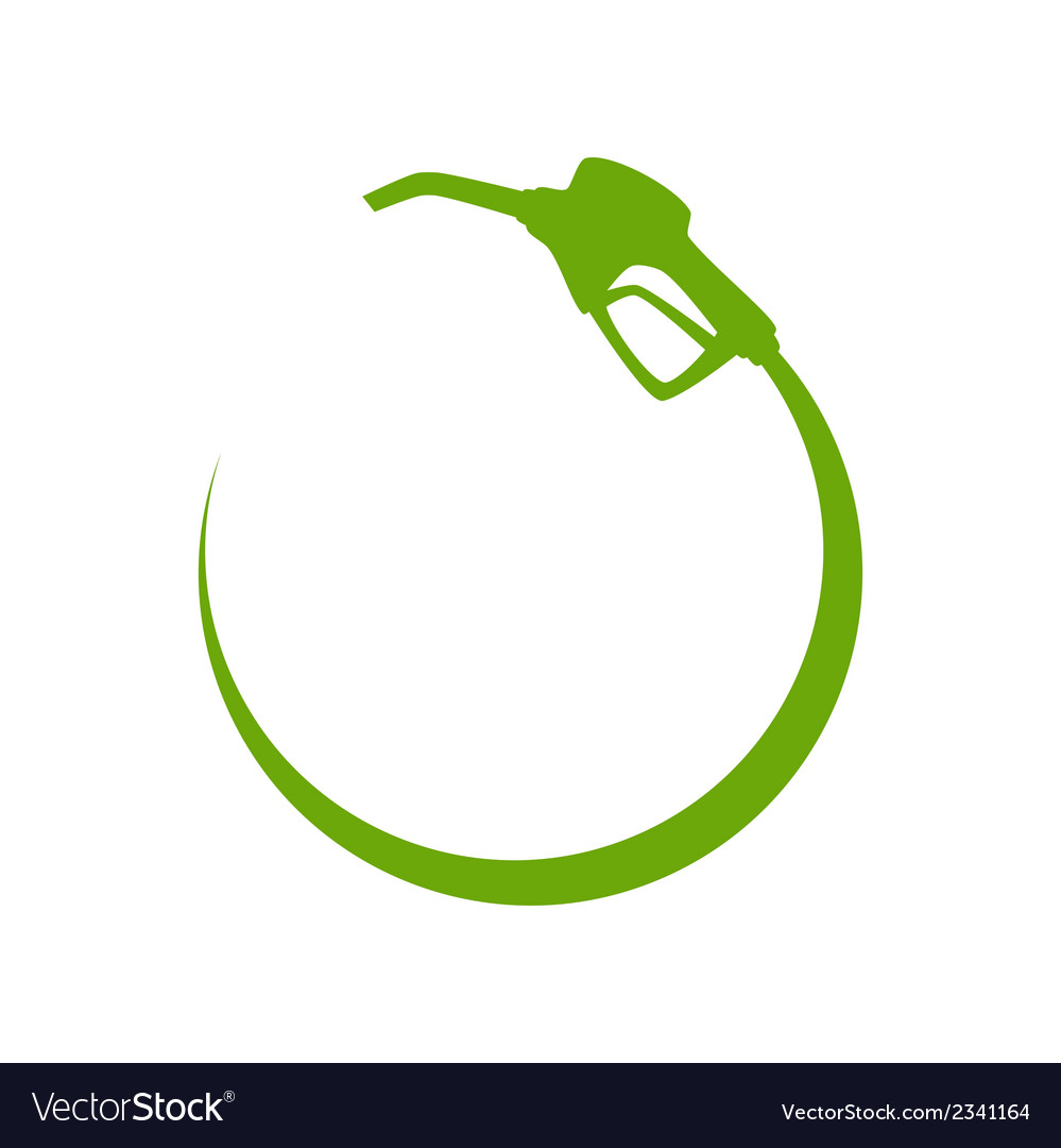 Green gas pump icon vector | Price: 1 Credit (USD $1)