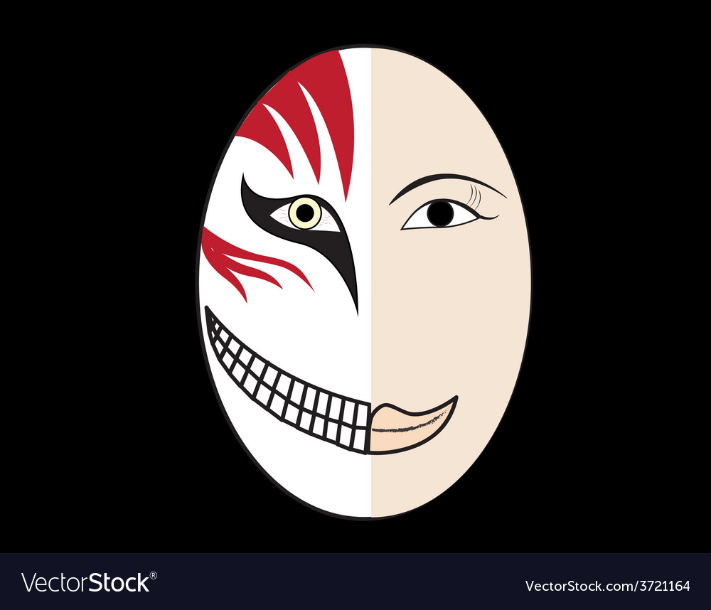 Halloween mask vector | Price: 1 Credit (USD $1)