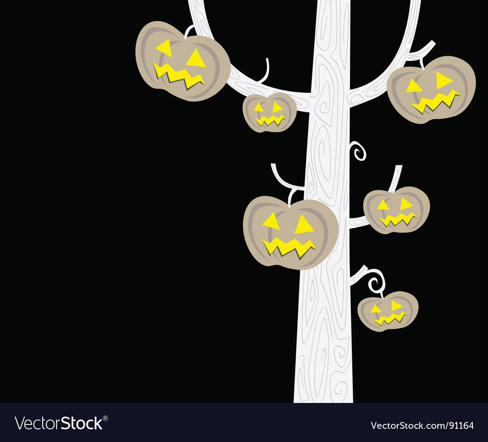 Halloween tree silhouette vector | Price: 1 Credit (USD $1)