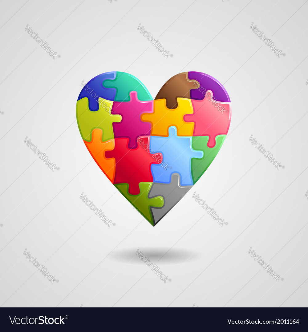 Heart color vector | Price: 1 Credit (USD $1)