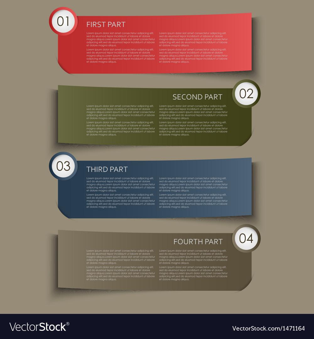 Information part banner design element vector | Price: 1 Credit (USD $1)