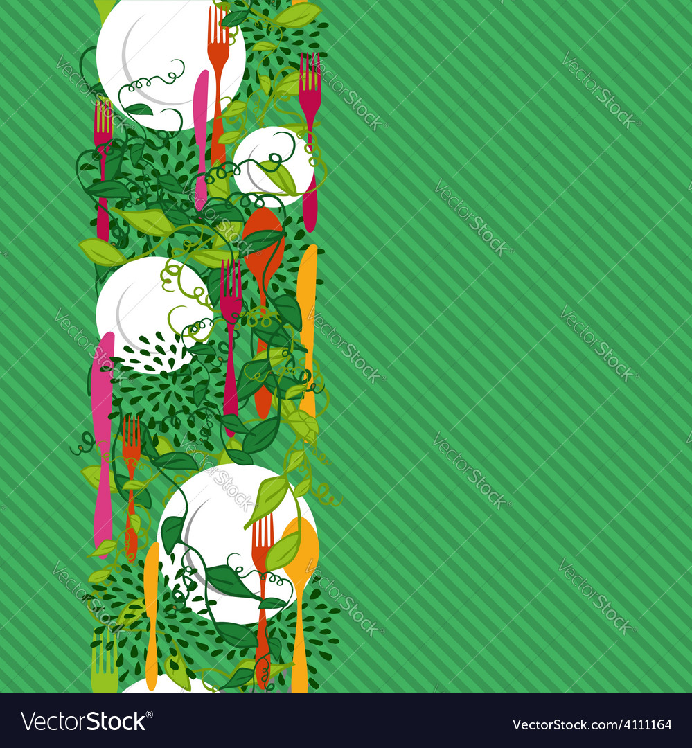 Kitchen food seamless pattern concept vector | Price: 1 Credit (USD $1)