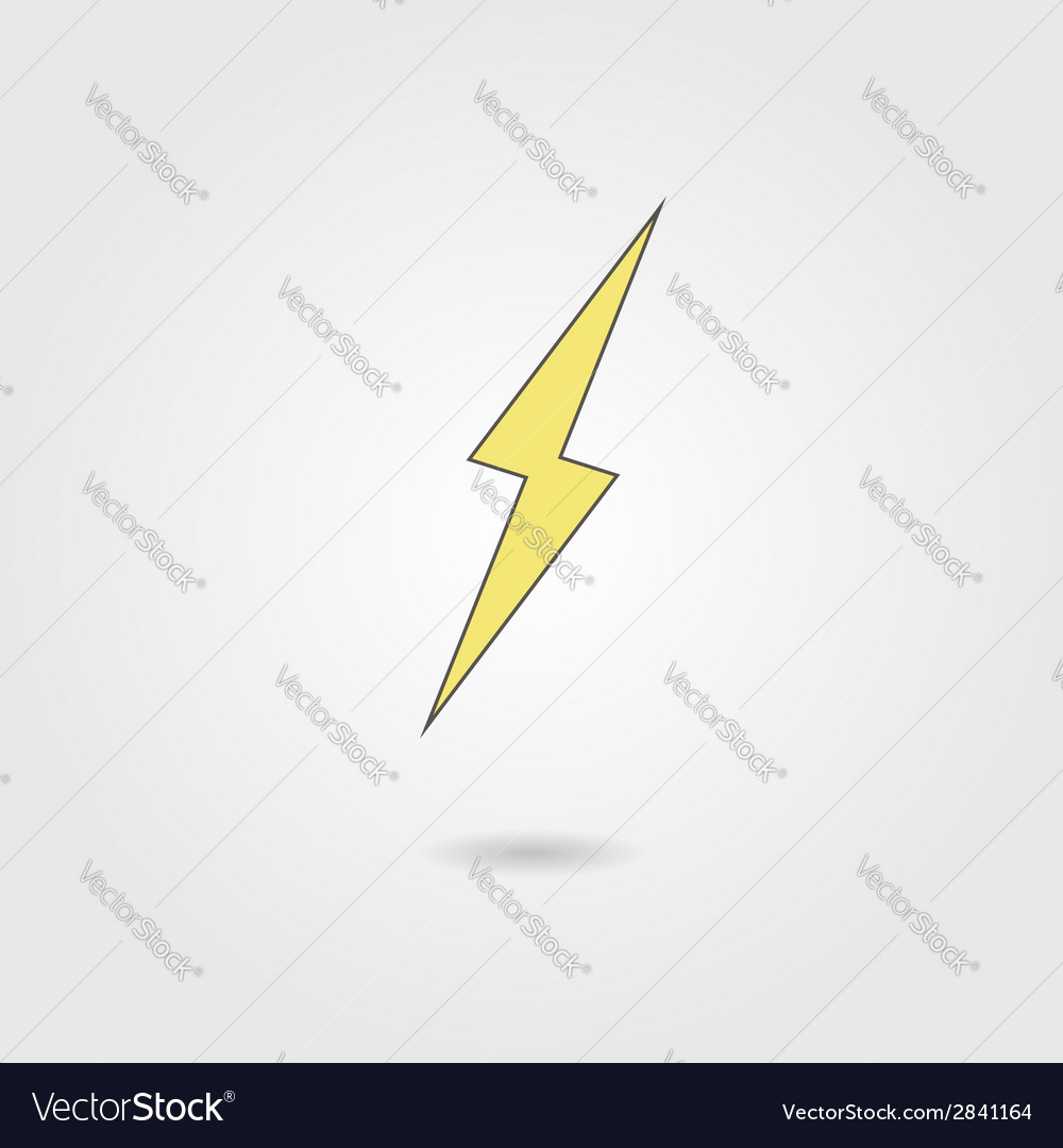 Lightning icon with shadow vector | Price: 1 Credit (USD $1)