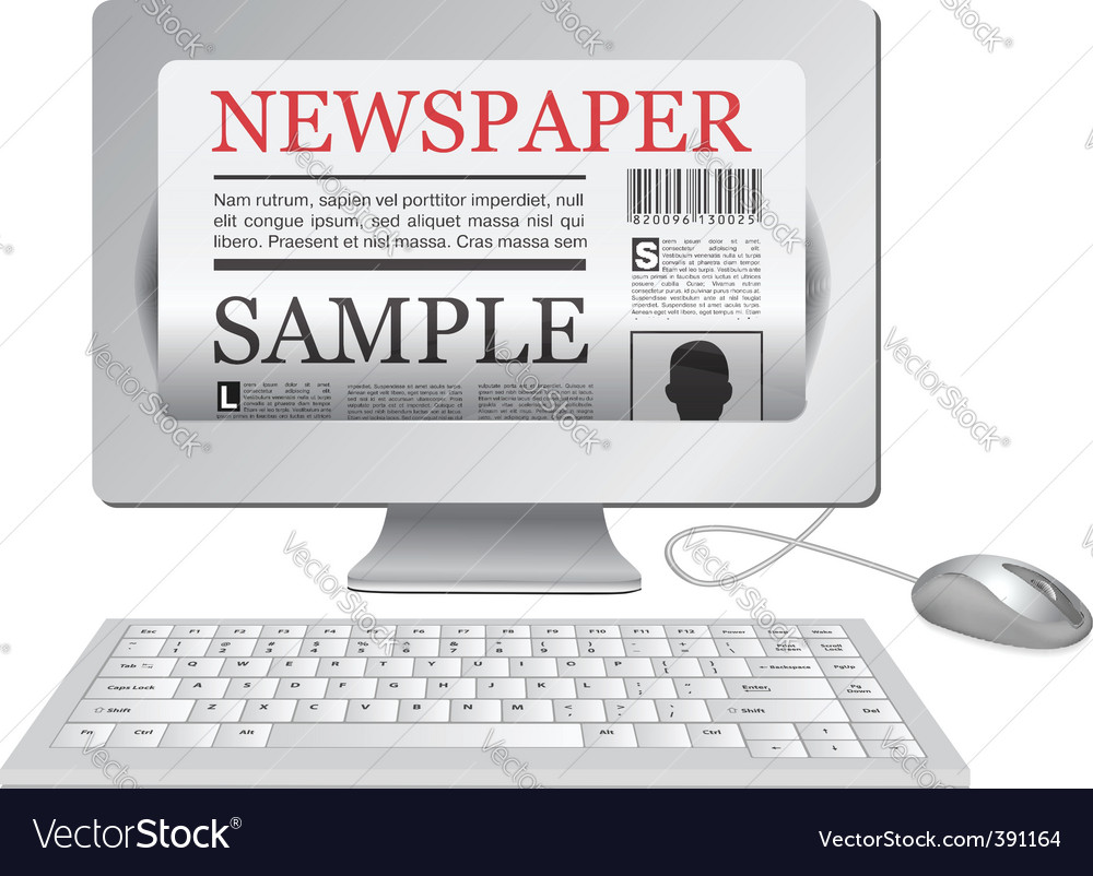 Online newspaper vector | Price: 3 Credit (USD $3)
